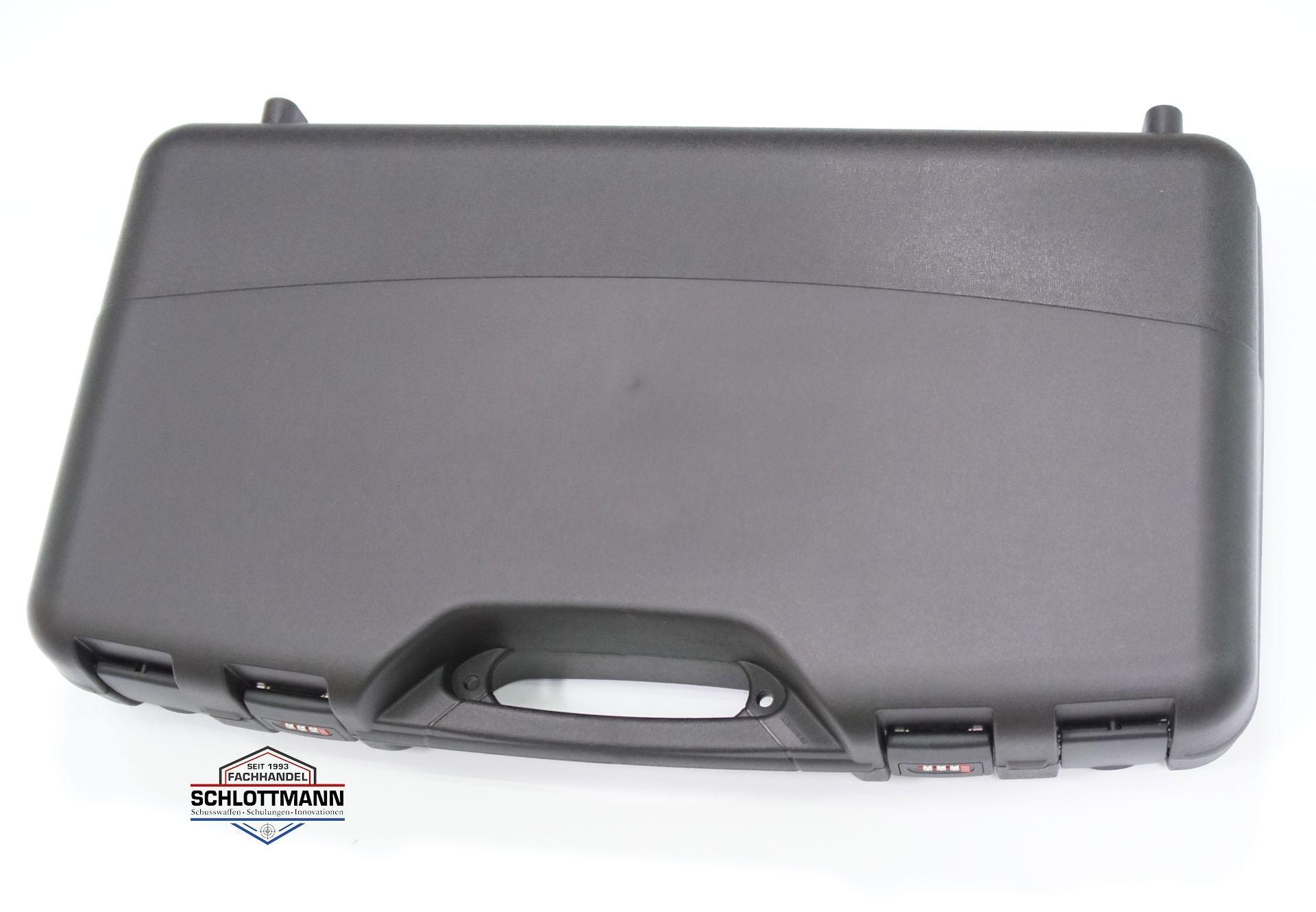 Kurzer Koffer, 70cm lang, für Pistolenkarabiner oder Bullpub- Gewehre, integrierte Zahlenschlösser und gute Polsterung