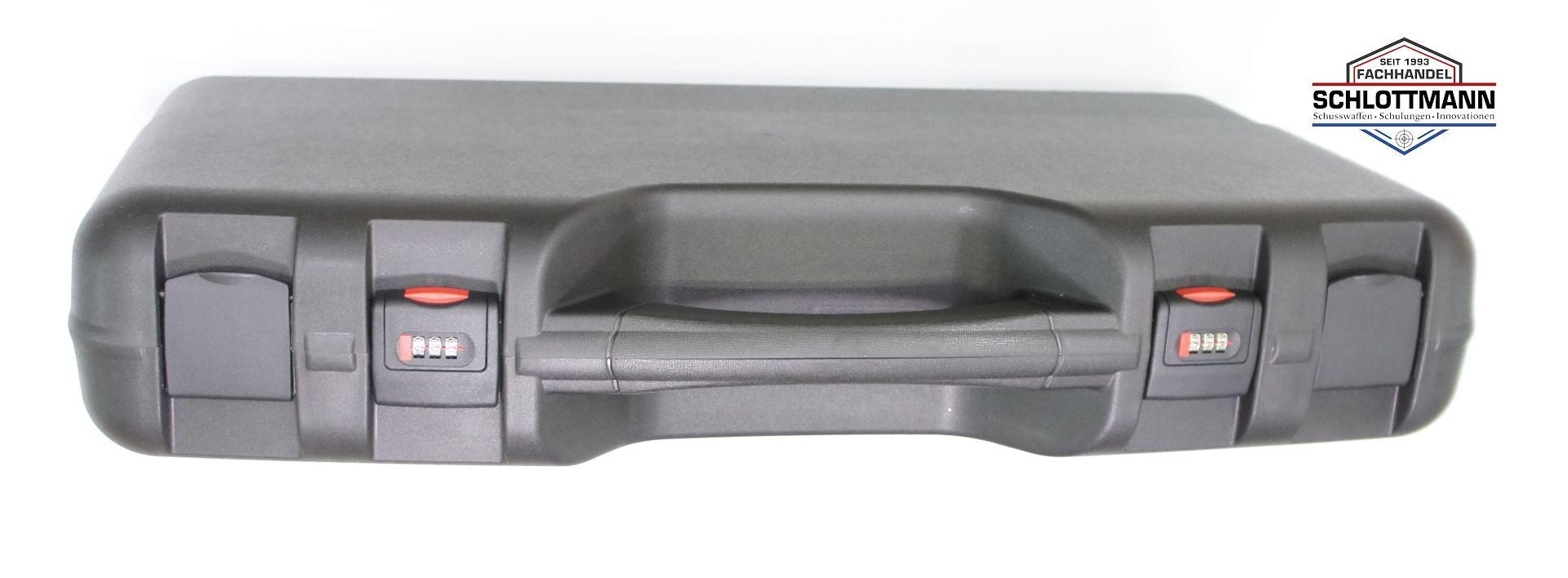 Gewehrkoffer mit integrierten Zahlenschlössern und guter Polsterung