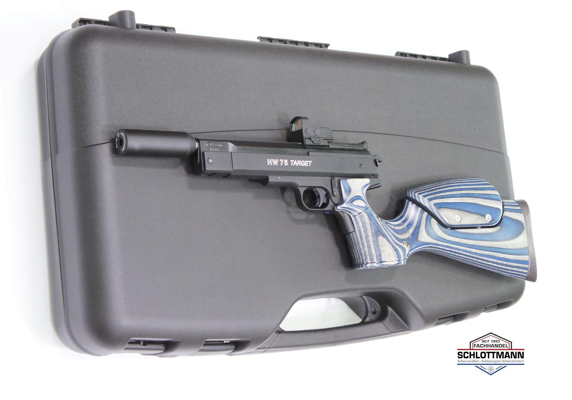 Mehr Koffer ist für so eine Pistole nicht nötig.