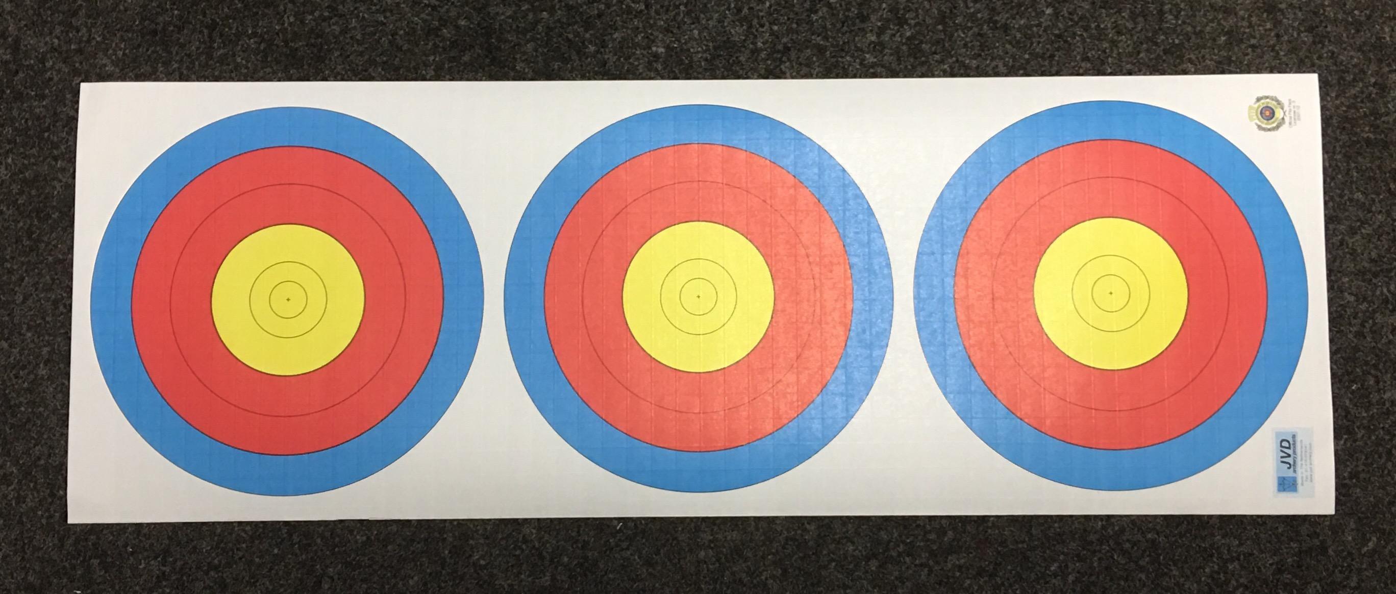 3er-Scheibenauflage, Spiegeldurchmesser je 20 cm
