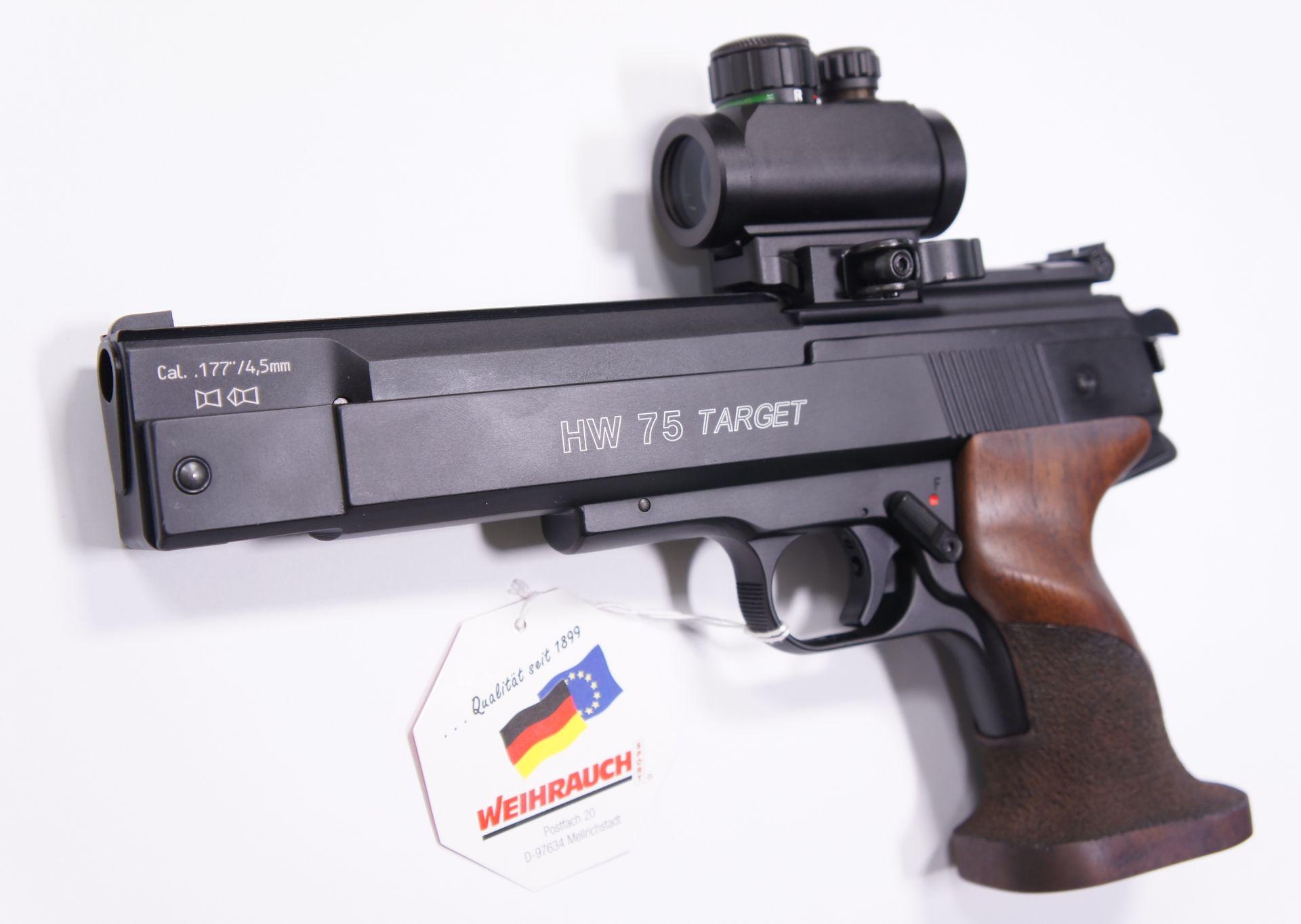 Luftpistole HW 75 Target im Kaliber im 4,5mm.
