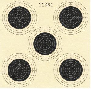 Zielscheiben 14x14cm, 5 Spiegel, 100er Pack Luftgewehr- Schießscheiben