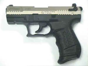 Gaspistole Walther P22 vernickelt