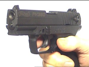 Gaspistole Walther PK 380 von hinten