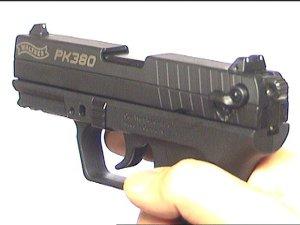 Gaspistole Walther PK 380 von vorne