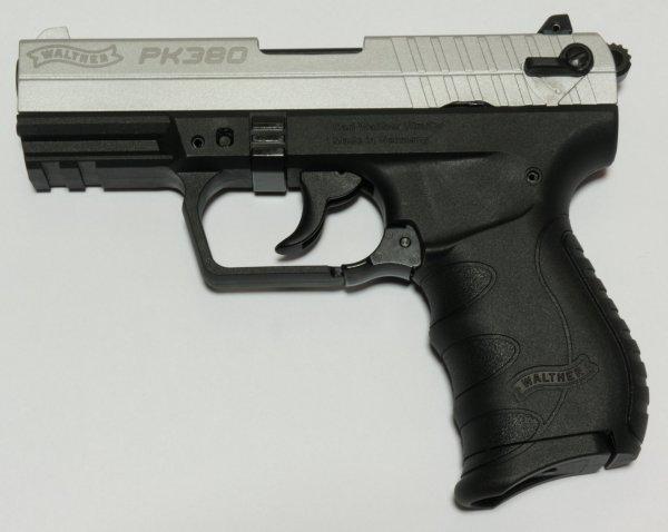 Walther PK 380 vernickelter Schlitten