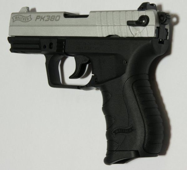 Walther PK 380. vernickelter Schlitten